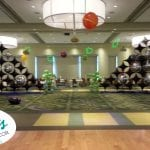 Space Theme Decor Dance floor area