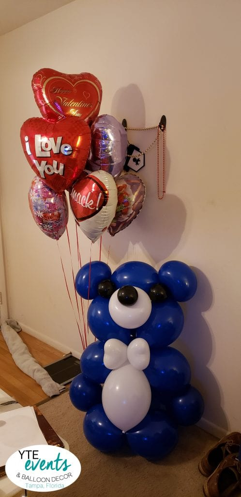 Special Delivery Balloon Bear with hearts