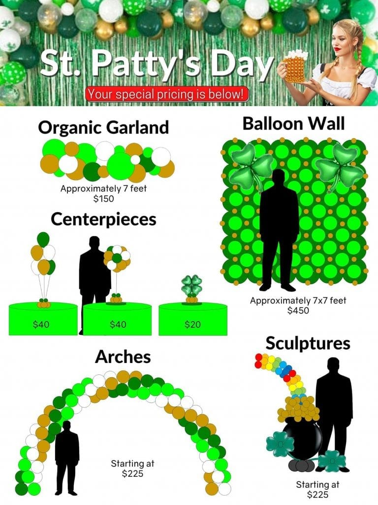 Special Pricing Tampa Balloon Decor St Pattys Day
