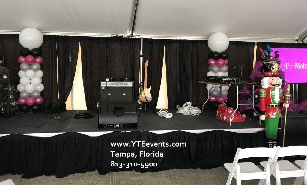 Stage Decorations for TMobile Event Tampa