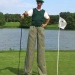 Stilt Walking Golfer
