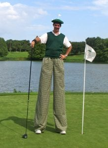 Stilt Walking Golfer
