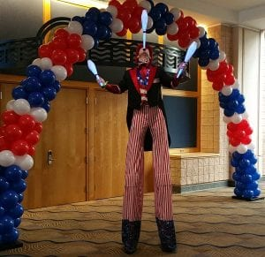 Tampa juggler at chamber of commerce event