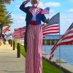 Stilt Walking Uncle Sam Tampa