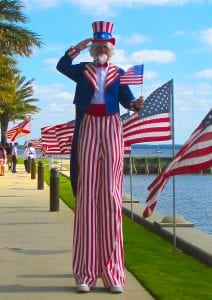 Stilt Walking Uncle Sam Tampa