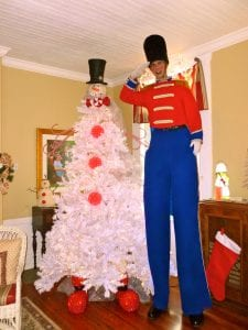 Stilts toy soldier Clearwater