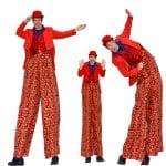 Strawberries stilt costume photos