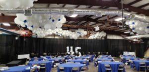Sun and Fun balloon decorations for corporate client appreciation event in Lakeland Florida