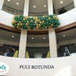 USF Balloon Drop Sarasota Campus green gold