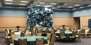 Walden University Balloon Decorations full room view