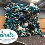 Walden University Balloon Wall Installation Organic Teal Wall