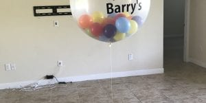 Welcome Home Realtor Balloon with Wine