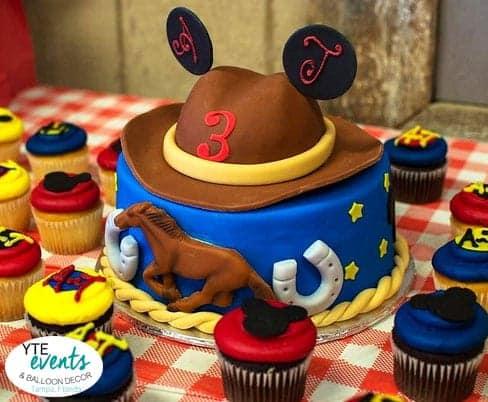 Western themed birthday cake