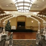 Winter wonderland dance floor decorations for corporate christmas party