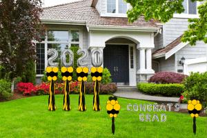 Yard Art Graduation Balloon Delivery 2020