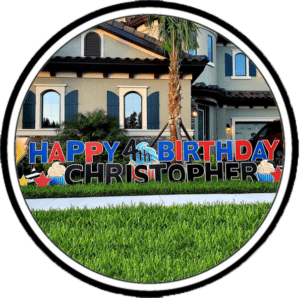 Yard Card Greeting Icon for Events in Tampa Florida