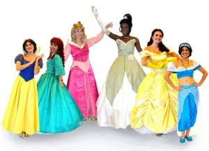 Tampa princess performers for private events