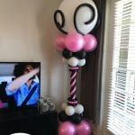 decorative princess column for elegant adult birthday in private home