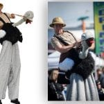 ostrich stilt walking costume and event entertainment rv shows